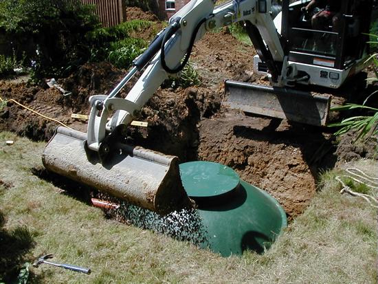 Sewage & waste water treatment tanks installation